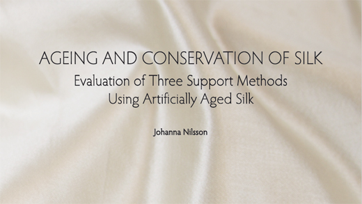 Ageing and Conservation of Silk